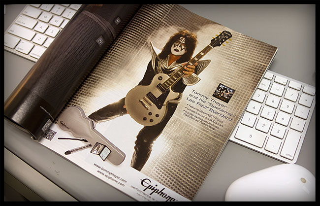 Tommy Thayer Print Ad