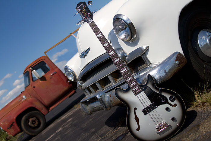 The Silverburst and a '39 Coupe