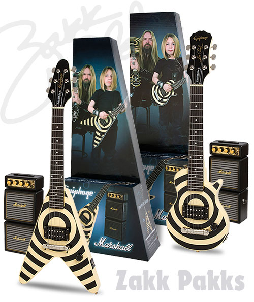 The New Epiphone Les Paul Pee Wee And Vee Wee Zakk Pakks
