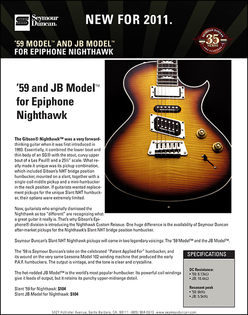 N_2000g the return of a new classic the nighthawk custom Epiphone Guitars at couponss.co