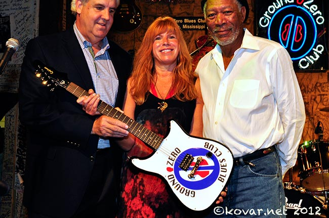 Bill Luckett, Nina Miller, and Morgan Freeman