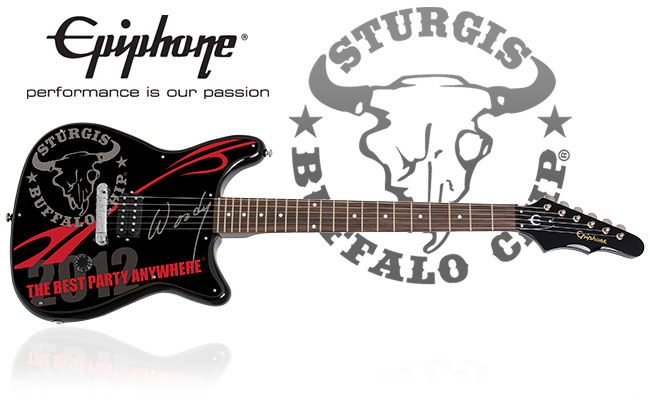 Win A Collector's Edition Sturgis Buffalo Chip®-themed Epiphone Coronet Guitar