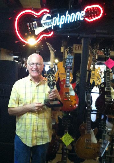 Willcutt Guitar Shoppe Receives Epiphone Dealer of the Month Award