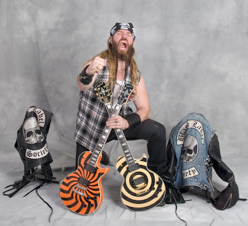 Zakk Wylde Kneeling