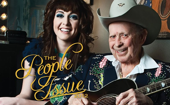 Jessica Frech and Little Jimmie Dickens in The Nashville Scene - People Issue