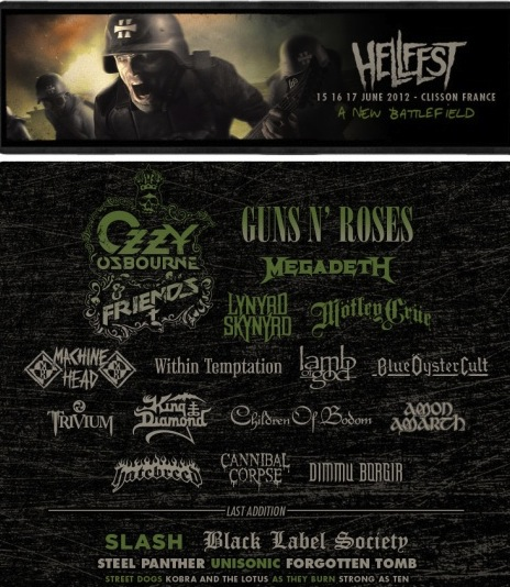Ozzy, Slash, and Zakk at Hellfest