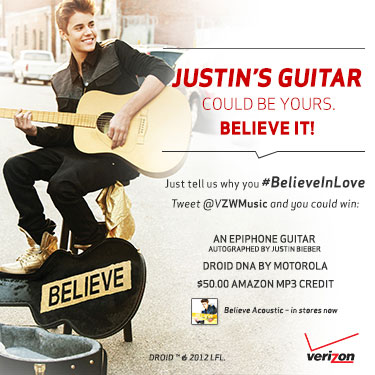 Justin Bieber's Guitar Could Be Yours. Believe It!