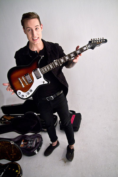 Paul Marc Rousseau of Silverstein On Tour With Epiphone Wilshire