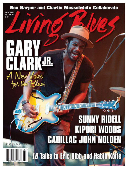 Gary Clark Jr. On The Cover of Living Blues