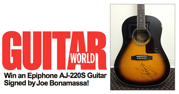 Register To Win A Joe Bonamassa Signed Epiphone AJ-220S From Guitar World