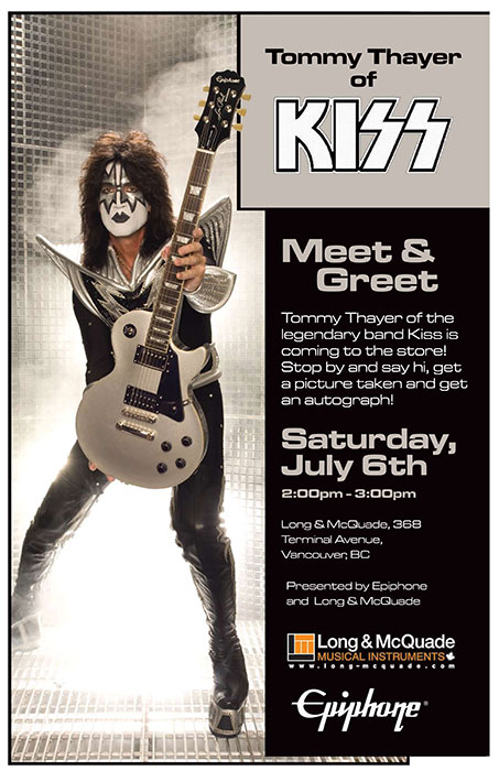 Tommy Thayer of KISS Meet & Greet: Long & McQuade Vancouver
