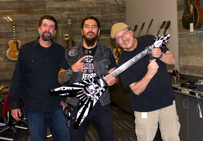 Robb Flynn Visits Epiphone Headquarters in Nashville