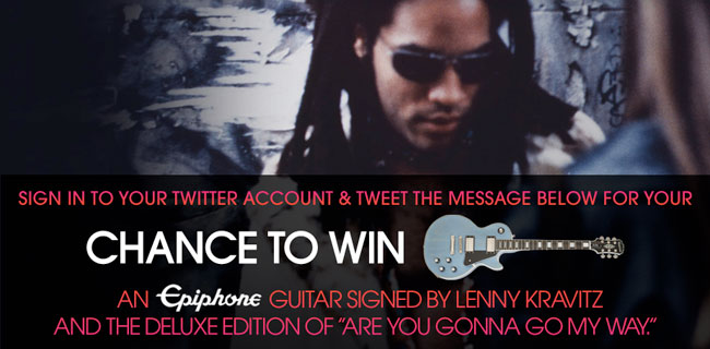 Enter To Win An Epiphone Les Paul Signed By Lenny Kravitz