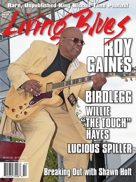 Living Blues Features Roy Gaines on Cover with his Epiphone Sheraton-II