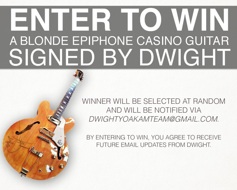 Win A Signed Casino by Dwight Yoakam
