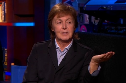 McCartney Takes Over the Colbert Report