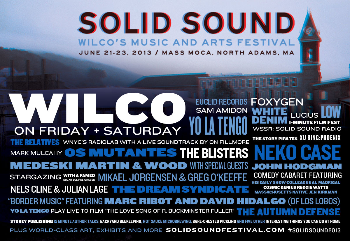 Wilco Announce Solid Sound Lineup