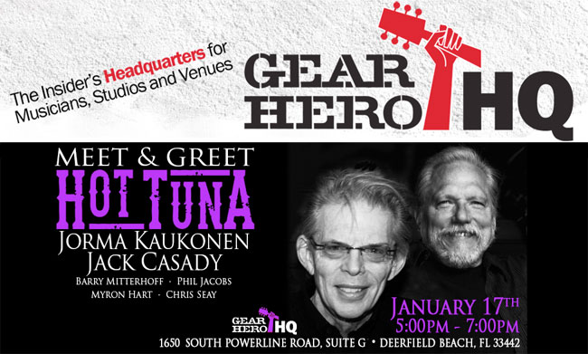 Meet Jack Casady at Gear Hero HQ in Deerfield Beach, Florida