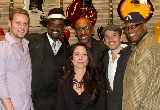 Nick Colionne, Tim Bowman, and Matt Marshak Visit Epiphone Headquarters in Nashville