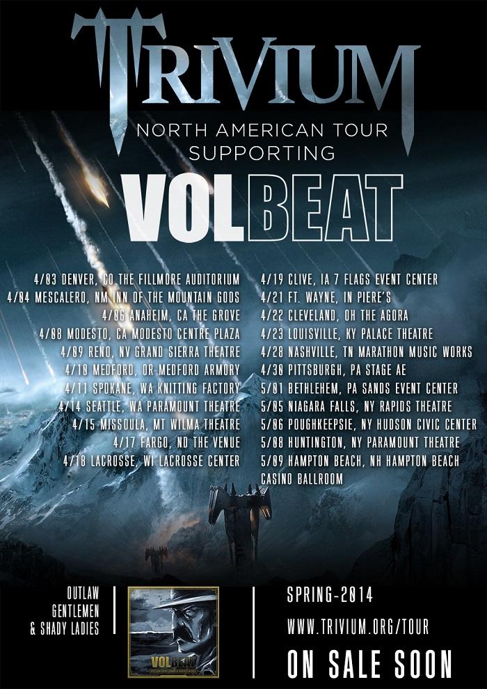 Trivium Announce U.S. Tour