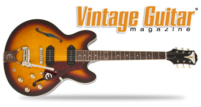 Vintage Guitar Reviews The Epiphone 50th Anniversary 1961 Casino