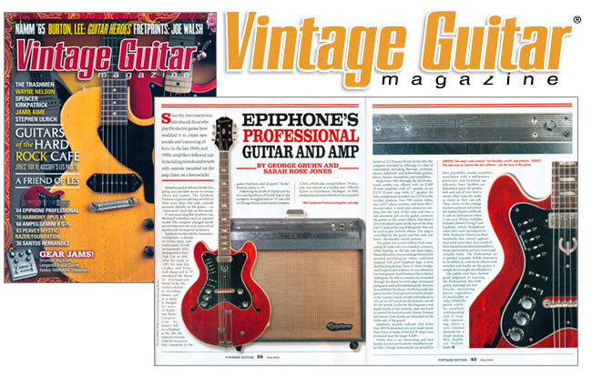 Vintage Guitar Magazine Looks At The Epiphone Professional