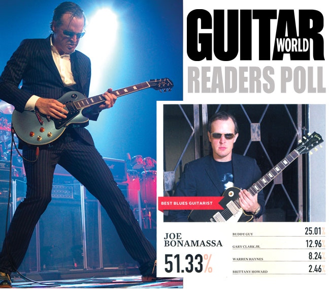 Joe Bonamassa Scores Best Blues Guitarist Award