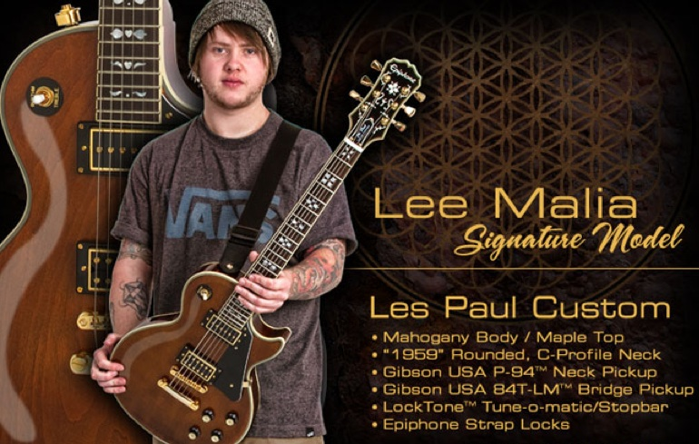 Lee Malia Les Paul Nominated for Guitar of the Year