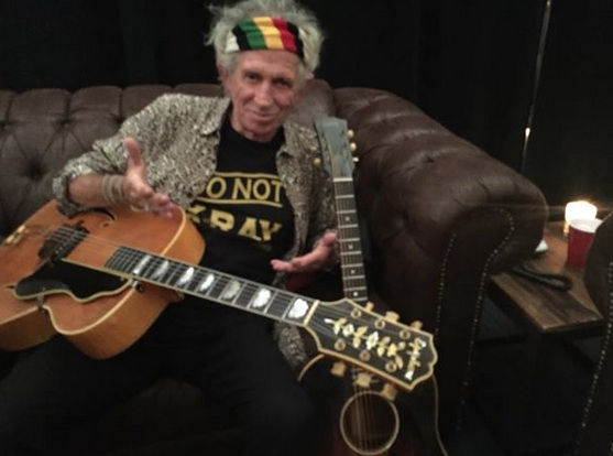 Keith Richards and Epiphone Under the Influence