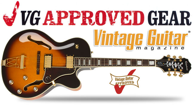 Joe Pass Emperor-II PRO Gets Vintage Guitar Magazine Approved Gear Award