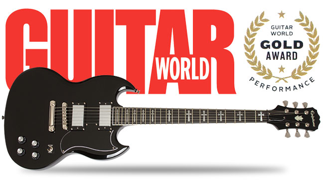 Epiphone Tony Iommi Signature SG Receives Guitar World Gold Award!