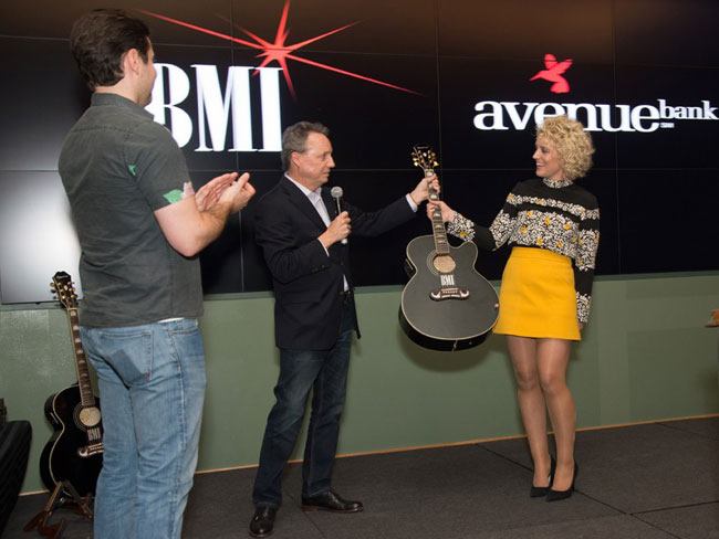 Epiphone and BMI Celebrate Cam's #1 Hit Burning House
