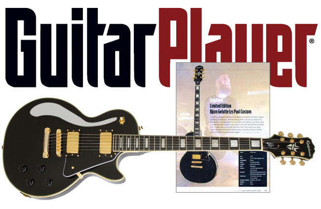 Guitar Player Features Epiphone Bjorn Gelotte Les Paul Custom