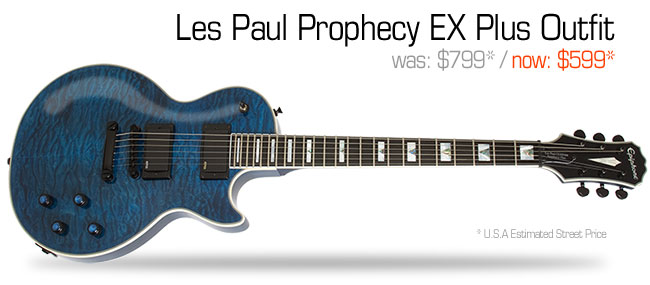 Epiphone Les Paul Prophecy EX Plus Outfit: was $799, now $599
