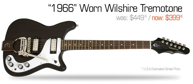 Epiphone 1966 Worn Wilshire Tremotone