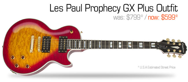 Epiphone Les Paul Prophecy GX Plus Outfit: was $799, now $599