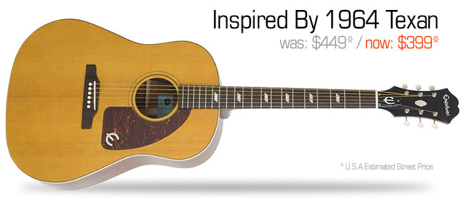 Epiphone Inspired By 1964 Texan: was $449, now $399