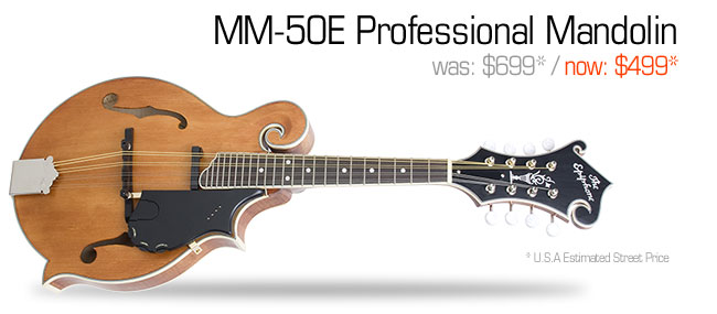 Epiphone MM-50E Professional Mandolin: was $699, now $499