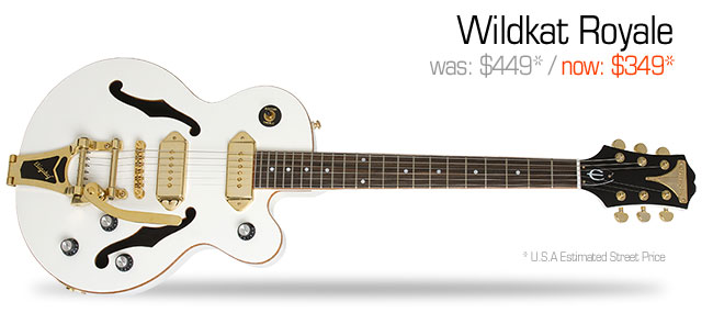 Epiphone Wildkat Royale: was $449, now $349