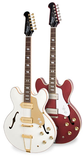 Epiphone Dwight Trash Casino Outfit in Jackpot White and Roulette Red