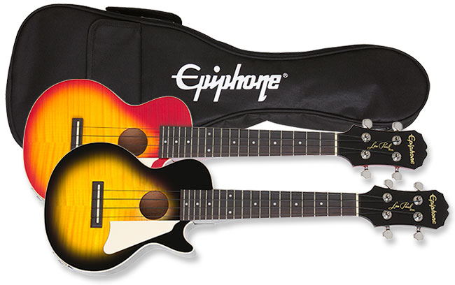 Epiphone Les Paul Ukulele in VS and HS