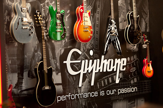 Epiphone Booth at Musikmesse 2012