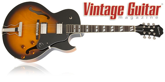 Vintage Guitar Magazine Reviews The Epiphone ES-175 Reissue