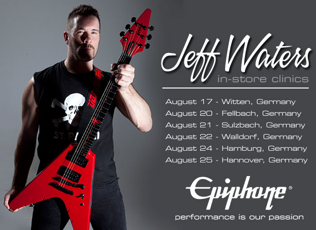 Epiphone Announces Jeff Waters Clinics In Germany