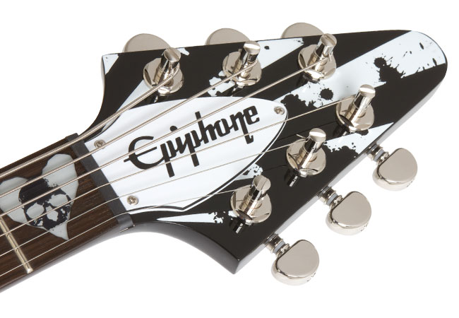 Total Guitar Reviews The Epiphone Robb Flynn Love/Death Flying-V