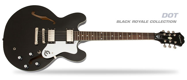 Presenting... The Limited Edition Epiphone Black Royale Collection!