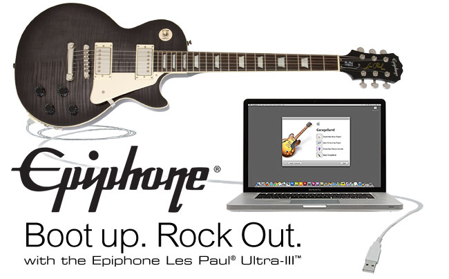 Boot Up. Rock Out. With The Epiphone Les Paul Ultra-III