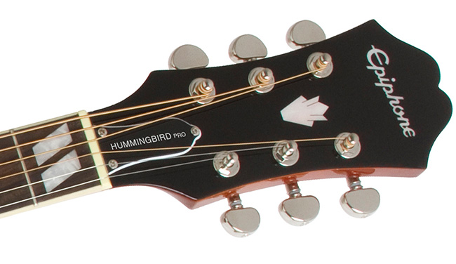 Epiphone Hummingbird PRO headstock