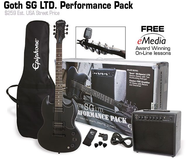 Epiphone Goth SG Performance Pack