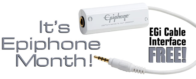 Its Epiphone Month: Free EGi Mobile Guitar Interface
